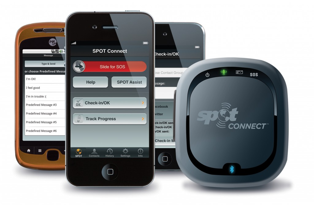 Spot connect links to a smartphone via bluetooth.