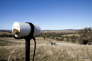 A GSM-19 Overhauser base station magnetometer sensor with a view.